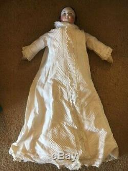 Rare porcelain antique doll 1861 my great grandmothers 27 very good condition
