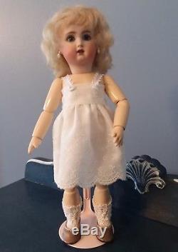 Repro Vintage Bleuette Porcelain Doll with Silk Dress Ensemble Choice of Wigs