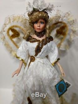 Rustie All Porcelain Doll Angellete Collectible Angel Doll Vintage Rare 20