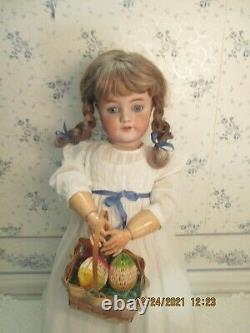 Simon & Halbig 550 Antique Porcelain Doll 22 Tall Ready For Easter, Sweet