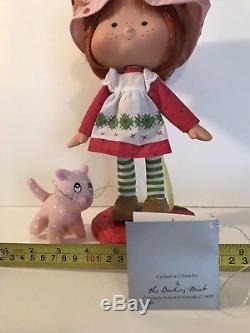 Strawberry Shortcake Danbury Mint Porcelain In Box withcustard & accessories