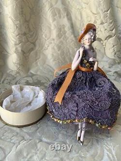 Superb Half-doll/demi-figurine/teepuppe/powder Box/buste/fasold & Stauch