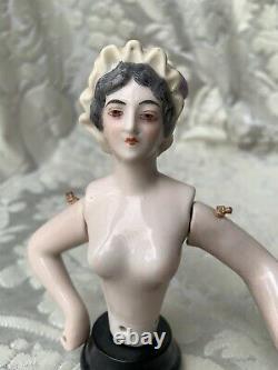 Superb & Rare Half-doll/demi-figurine/teepuppe/pincushion Doll/henri Delcourt