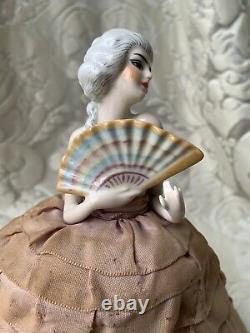 Superb & Rare Half-doll/demi-figurine/teepuppe/sewing Box/buste/fasold & Stauch