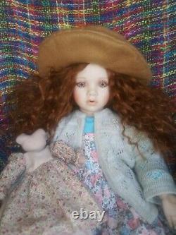 TARA By Artist Linda Steele. 23 Wild Red Hair Porcelain Doll. EUC. VTG. RARE