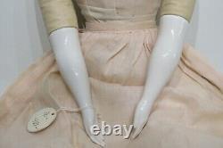 Tall 30 Antique German Flat Top Dark Hair China Doll Original Clothes Boots