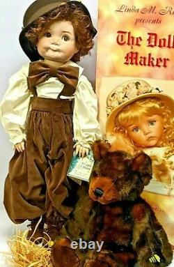 The Doll Maker Solid Porcelain Doll. Wyatt and Willie #24/300