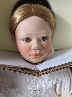 Two Christine Orange Seraphina Porcelain Dolls Ltd With Coa Elite Doll