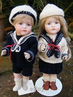 Two Reproduction Vintage Kammer Reinhardt KR #114 Ceramic Bisque 10 Dolls