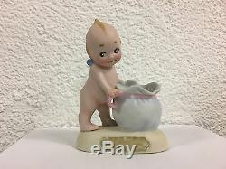 VINTAGE PORCELAIN KEWPIE Candy Container sack Let US to be Happy O'NEILL F 1912