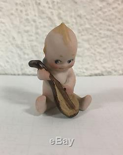 VINTAGE PORCELAIN KEWPIE Mandolin Rose O'NEILL Baby doll 1915