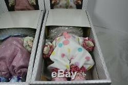 VINTAGE Precious Moments Candy & Bong Bong Clowns Porcelain Bisque Dolls 1988