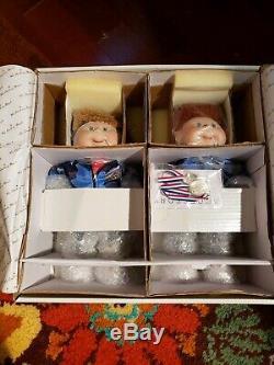 VTG 1996 Olympic Cabbage Patch Kids Olympikids Porcelain Dolls Danbury Mint NIB