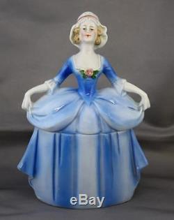VTG Madame Pompadour Porcelain German Doll Dresser Box Erphila