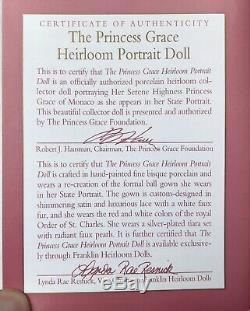 VTG Princess Grace Of Monaco Porcelain Doll By Franklin Mint 16 NRFB BEAUTIFUL
