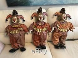 Very Large Porcelain Clown Doll Dolls 24 Inches High Shop Display