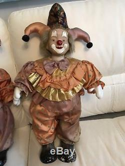 Very Large Porcelain Clown Doll Dolls 24 Inches High Shop Display Vintage 80s