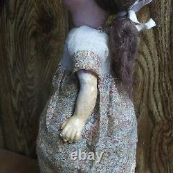 Very Rare Antique William Goebel Porcelain 12 Child's Doll Marked Germany
