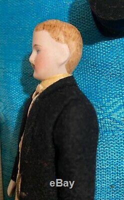 Victorian Rare Artisan Porcelain Gentleman George B. Evans dollhouse doll