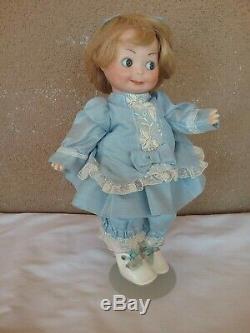 Vintage 10 googly flirty eye baby doll bisque porcelain AM Armand Marseille