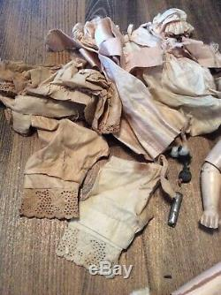 Vintage 11 Jumeau French Bebe Doll, Porcelain Head G2, Compo/wood body 3/0 Vtg