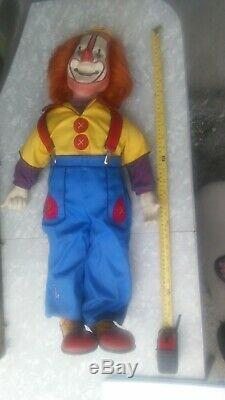 Vintage 1940's Buttons The Haunted Creepy Porcelain Clown Doll