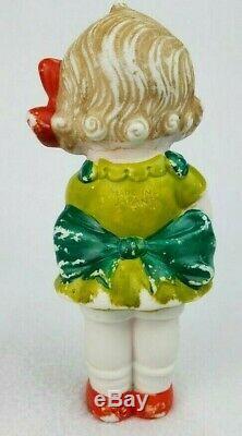 Vintage 1950's Kewpie Doll Bisque Porcelain Figurine -Made In Japan Singing 7