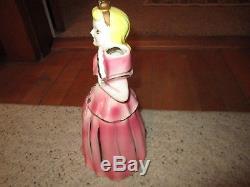 Vintage 1950's Kreiss Pink Porcelain Napkin/Candle Holder Doll