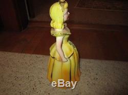 Vintage 1950's Kreiss Yellow Porcelain Napkin/Candle Holder Doll