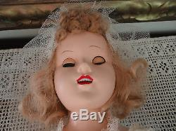 Vintage 1960s Walking Bridal Doll All Original Made Usa Porcelain Teeth 18 inch