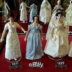 Vintage 1980's Doreen Sinnett, Miniature Doll, Wedding Dresses Showcase