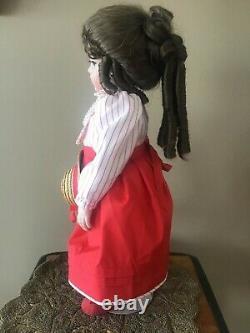 Vintage 1984 Handmade 100% Porcelain Doll Bru Shandele Reproduction Signed 19