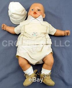 Vintage 1985 Hand Made in Summerville SC Ceramic Baby Doll by Jeannette Driggers