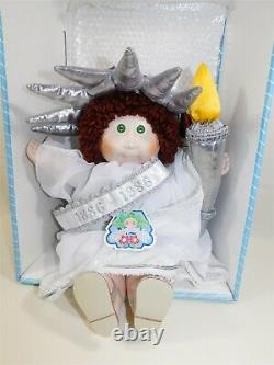 Vintage 1986 Cabbage Patch Kids Porcelain Collection Doll Statue of Liberty MIB