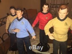 Vintage 1988 Star Trek 14 Collectible Porcelain Dolls by Hamilton Set of 7