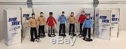 Vintage 1988 Star Trek 14 Hamilton Set of 7 Porcelain Dolls Collection