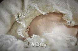 Vintage 1989 All Porcelain Baby Girl Doll Artist Phyllis Parkins Signed 9 1/2