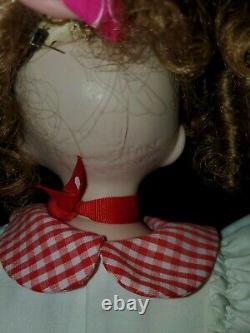 Vintage 1991 Dianna Effner 22 Emily Doll Expressions Red Gingham Dress