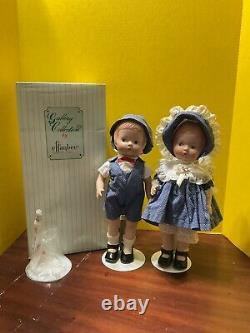 Vintage 1992 Porcelain Effanbee Doll 15 Patsy Girl & Boy MP 101 & 102 LE 5000