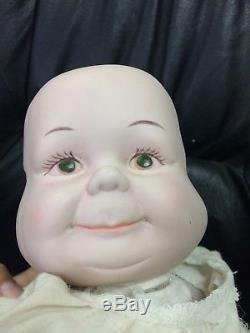 Vintage 3 Face Baby Doll 20 Porcelain