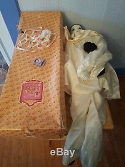 Vintage 38 1981 Schmid Michael Oks Pierrot Love Porcelain French Clown Doll Box