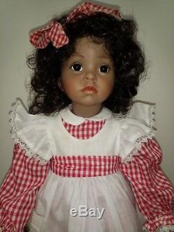 Vintage African American Porcelain 20 Doll