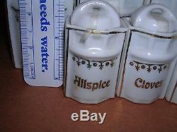 Vintage / Antique 30 Piece German Porcelain Canister Set Doll Size spice salt