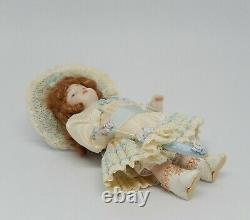 Vintage Antique Victorian Porcelain Girl Doll Artisan Dollhouse Miniature 112