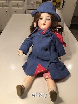 Vintage Armand Marseille Porcelain Doll 390 A3M Sleep Eyes Teeth GERMANY