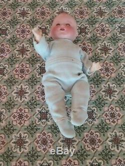 Vintage Armand Marseille bisque porcelain Dream Baby 352 doll antique cabinet