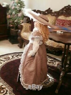Vintage Ashley Belle Victorian Style Doll Large 36inchnew Bisgue Porcelain