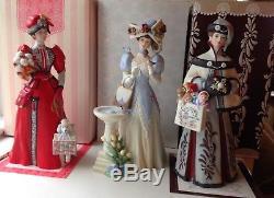 Vintage Avon Mrs Albee Presidents Club Porcelain Doll Set Of 13 Mib