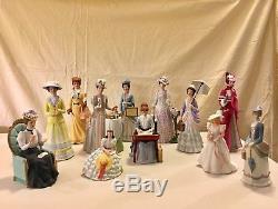 Vintage Avon Mrs Albee Presidents Club Porcelain Doll set of 12