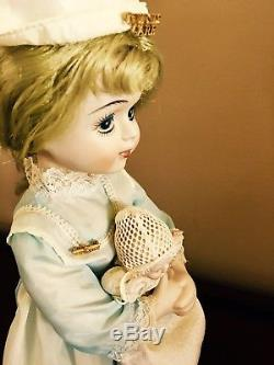 Vintage Bisque Red Cross Nurse Doll Holding Beautiful Bisque Baby Doll